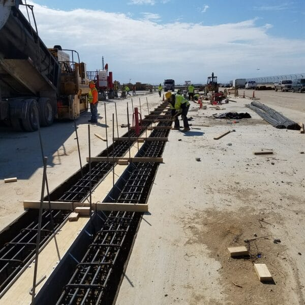 airport trench drain installation