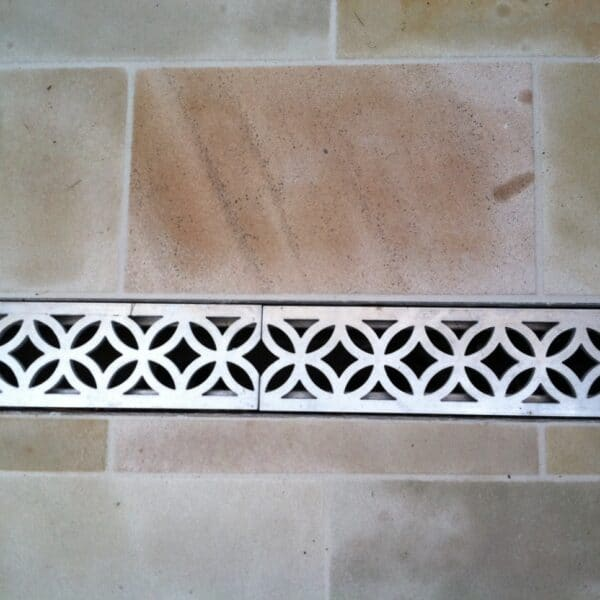 decorative trench drain grate