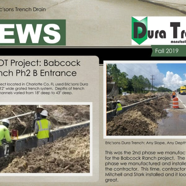 fall 2019 newsletter for duratrench