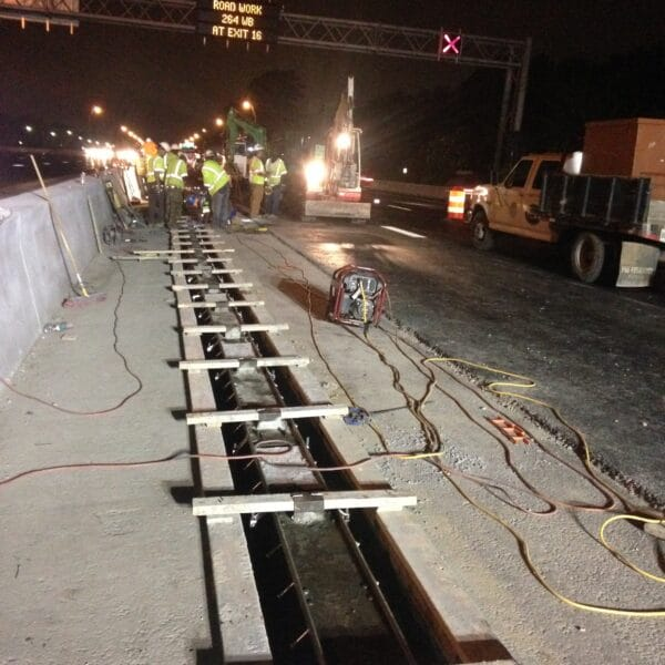 highway trench drain installation