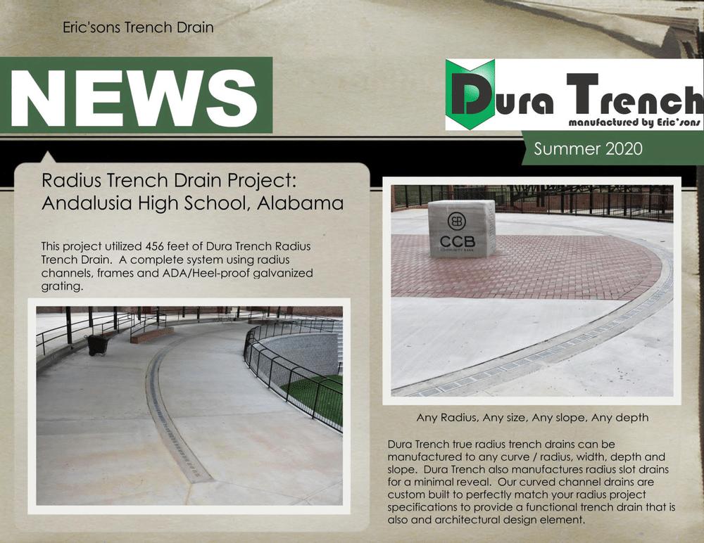 DuraTrench true radius trench drains