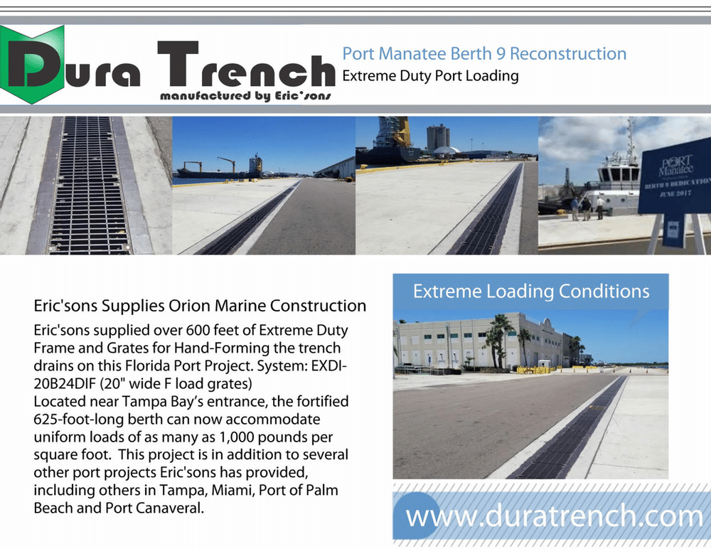 Airport and Seaport Trench drains