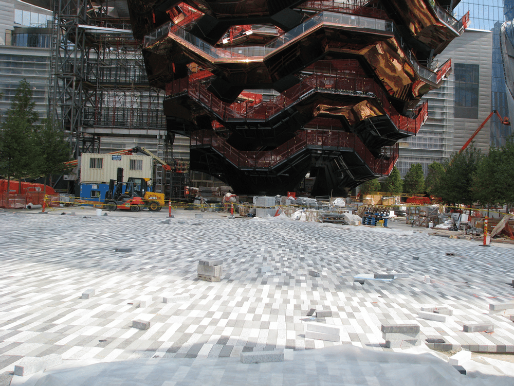 Dura Trench Radius slot drain is being utilized at this park in Manhattan