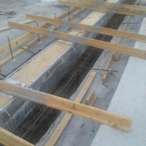 utility trench drain installation
