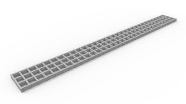 05H48FG - 5 inch wide fiberglass trench drain grate