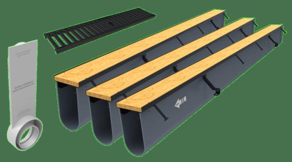 24ft driveway drain kit