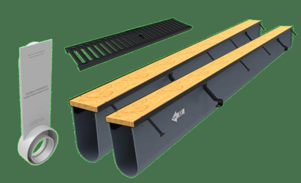 16ft driveway drain kit