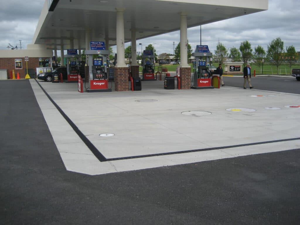 Fuel dump area