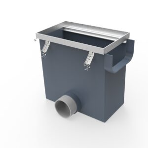 catch basin for trench drain system