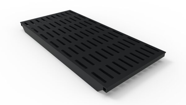 black slotted trench drain grate
