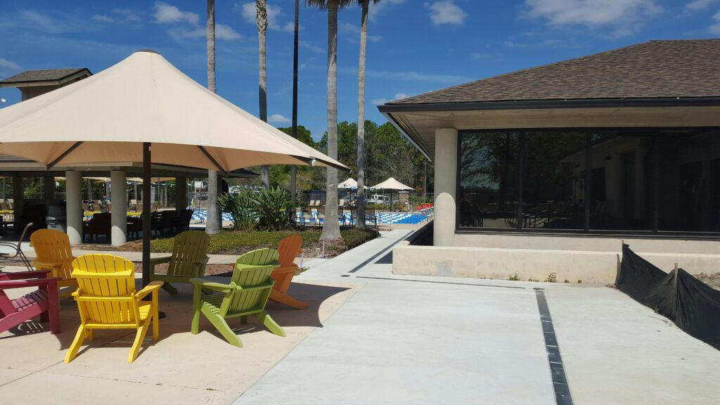 Resort Pool Trench Drain system