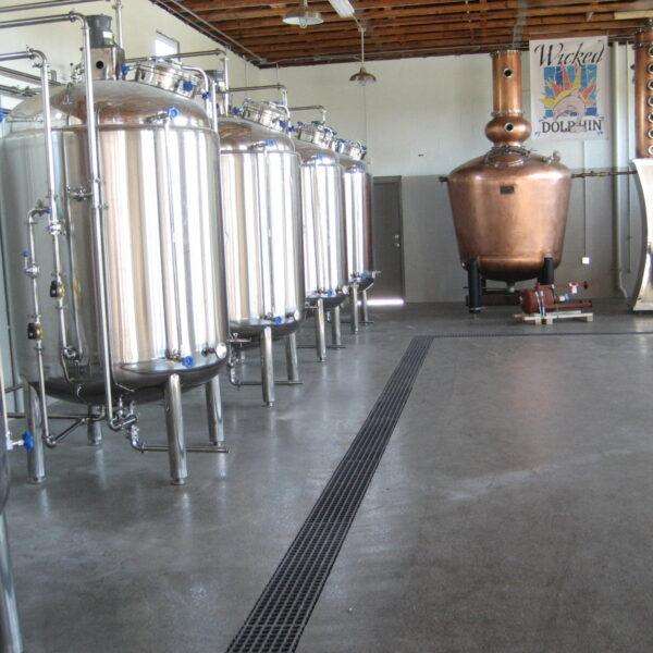 Distillery trench drain