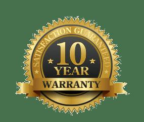 10 year warranty logo