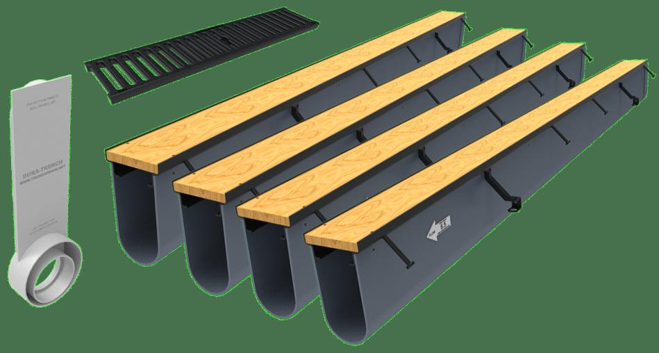 32ft driveway drain kit