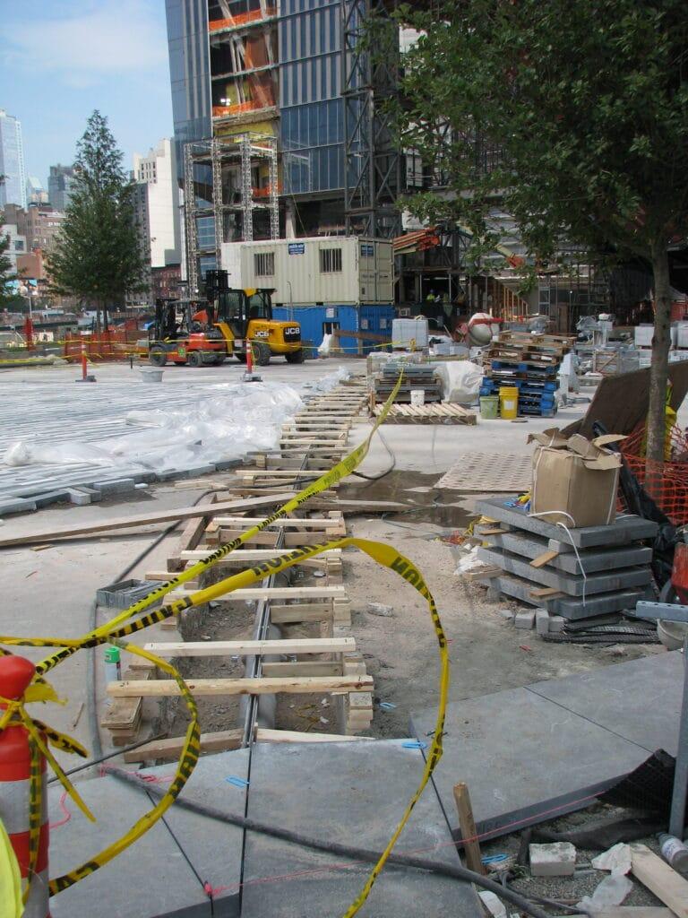 Radius Slot drain installation in NYC park.