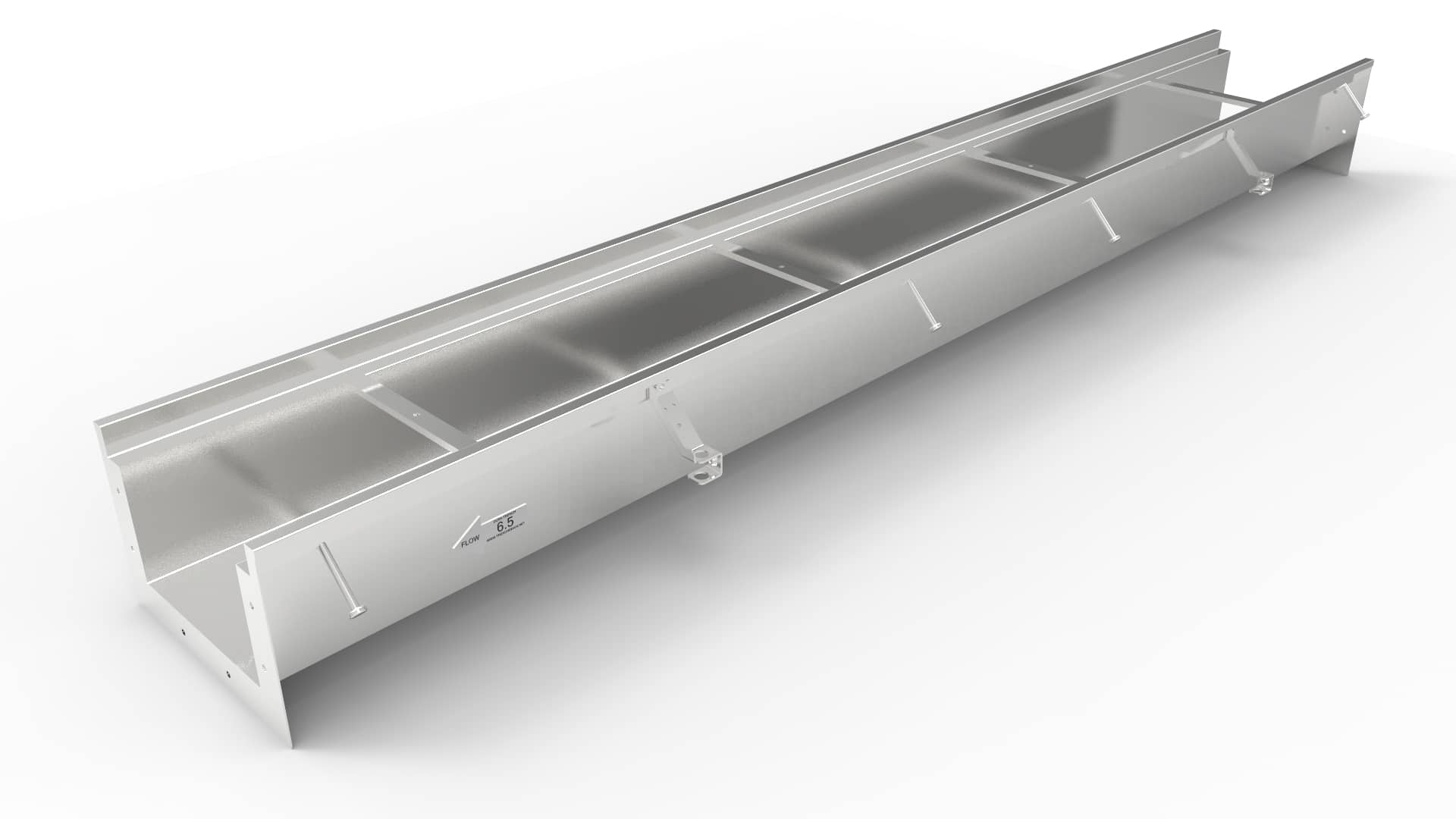 """10"""" wide stainless steel trench drain"""