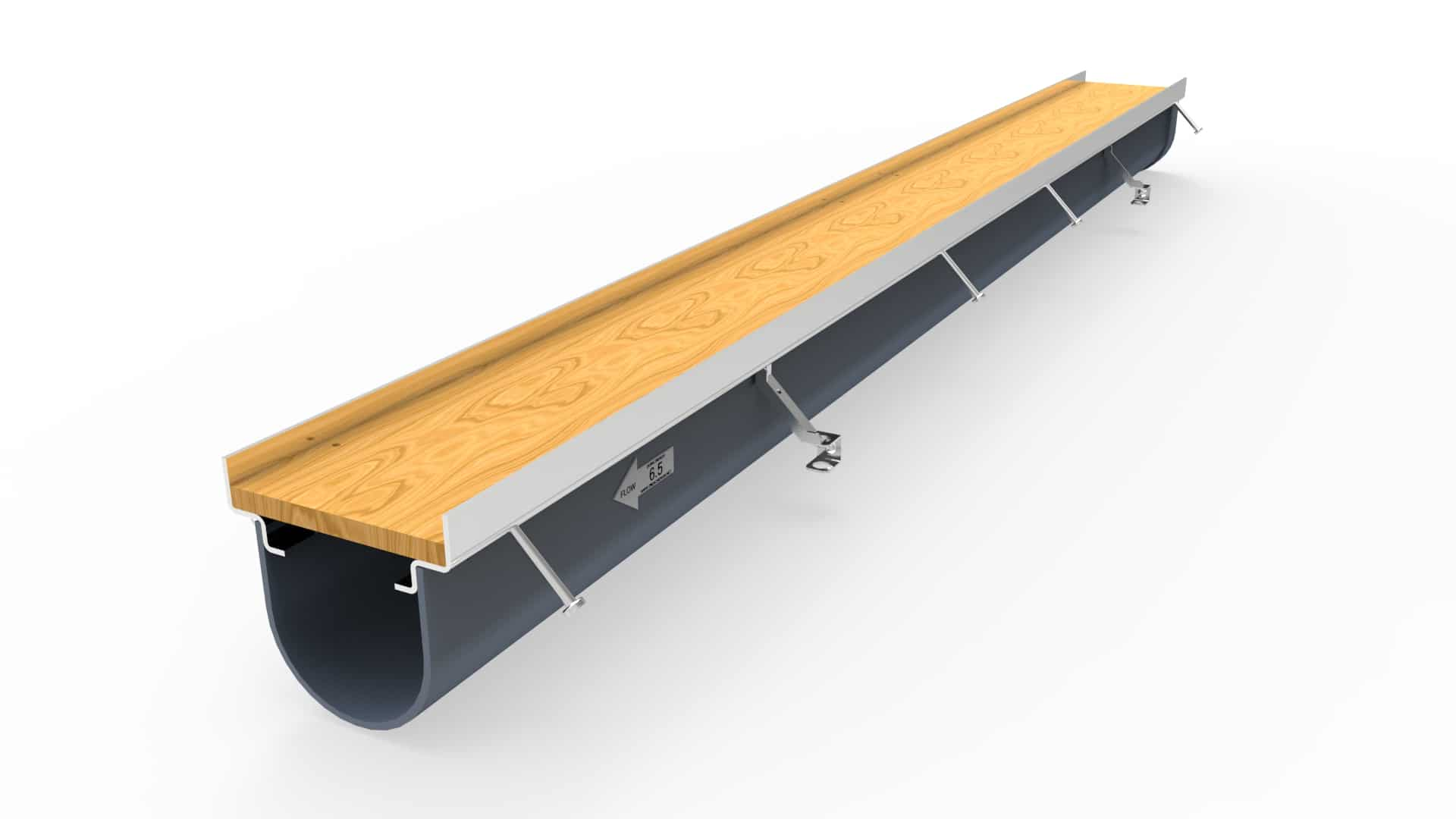 """8"""" wide Prefabricated Trench Drain system"""