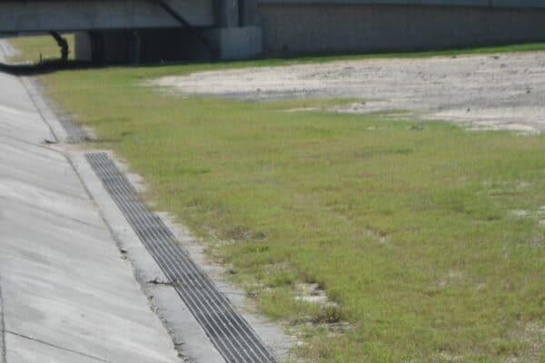 fiberglass trench drain grate at seawall