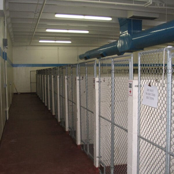 trench drain in a kennel