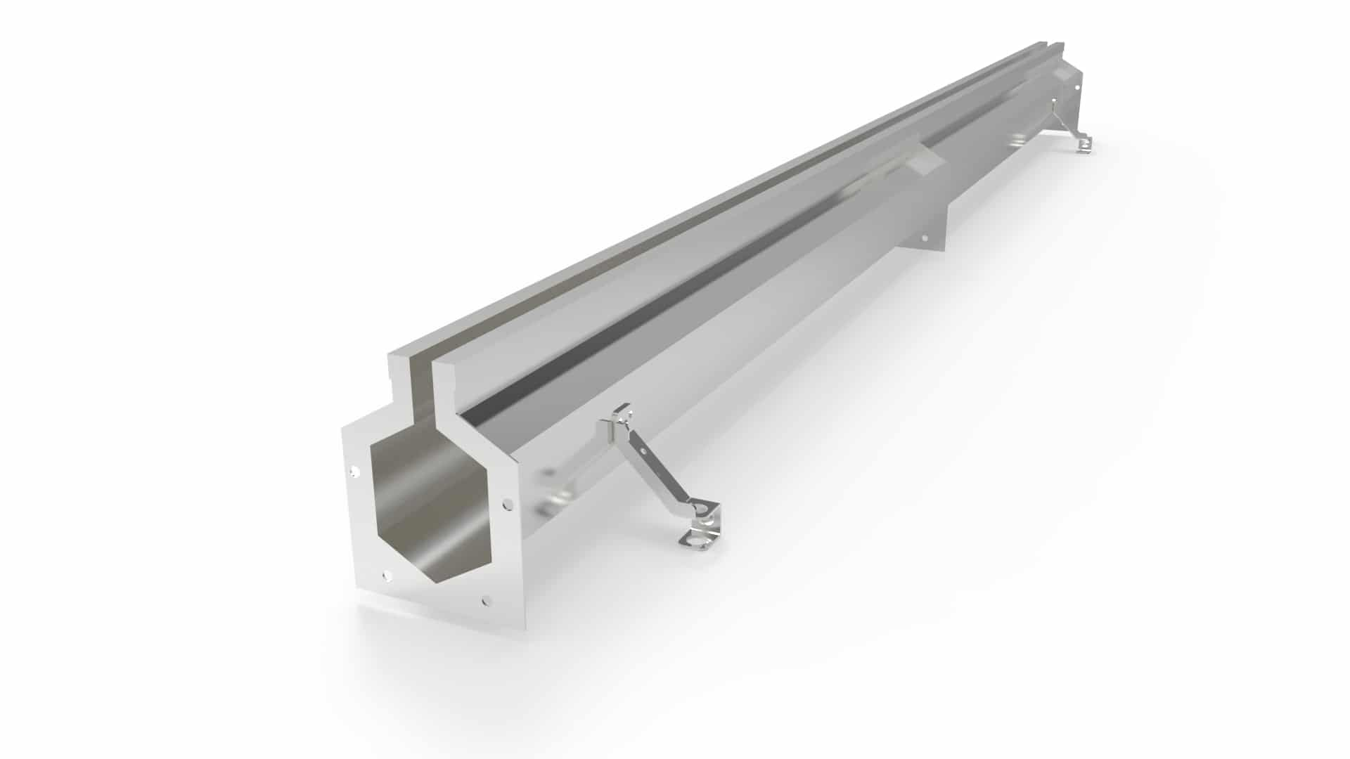 """4"""" wide slotted stainless steel trench drain"""