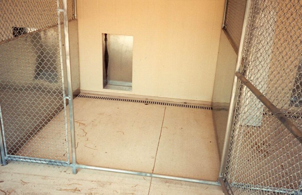 Stainless steel trench drain system for kennel