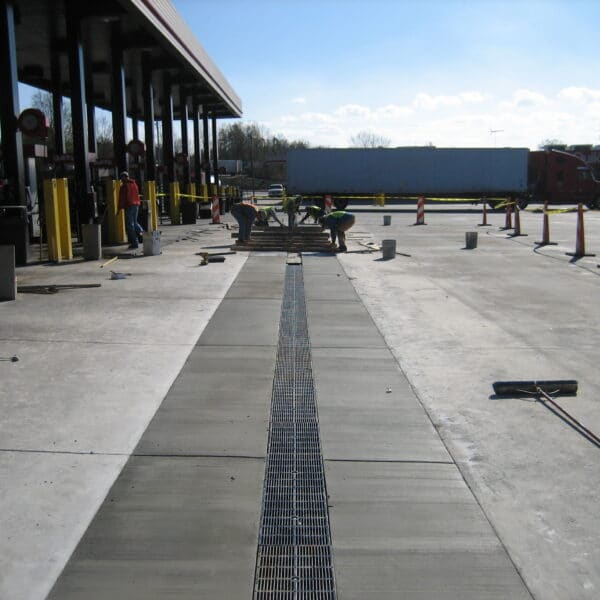 gas station trench grate and trench drain system