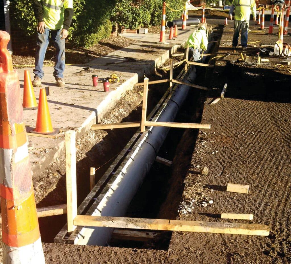 Slot drain system at Bartholemew Church