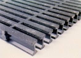 Pultruded fiberglass trench drain grate