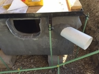 trench drain outlet pipe at angle