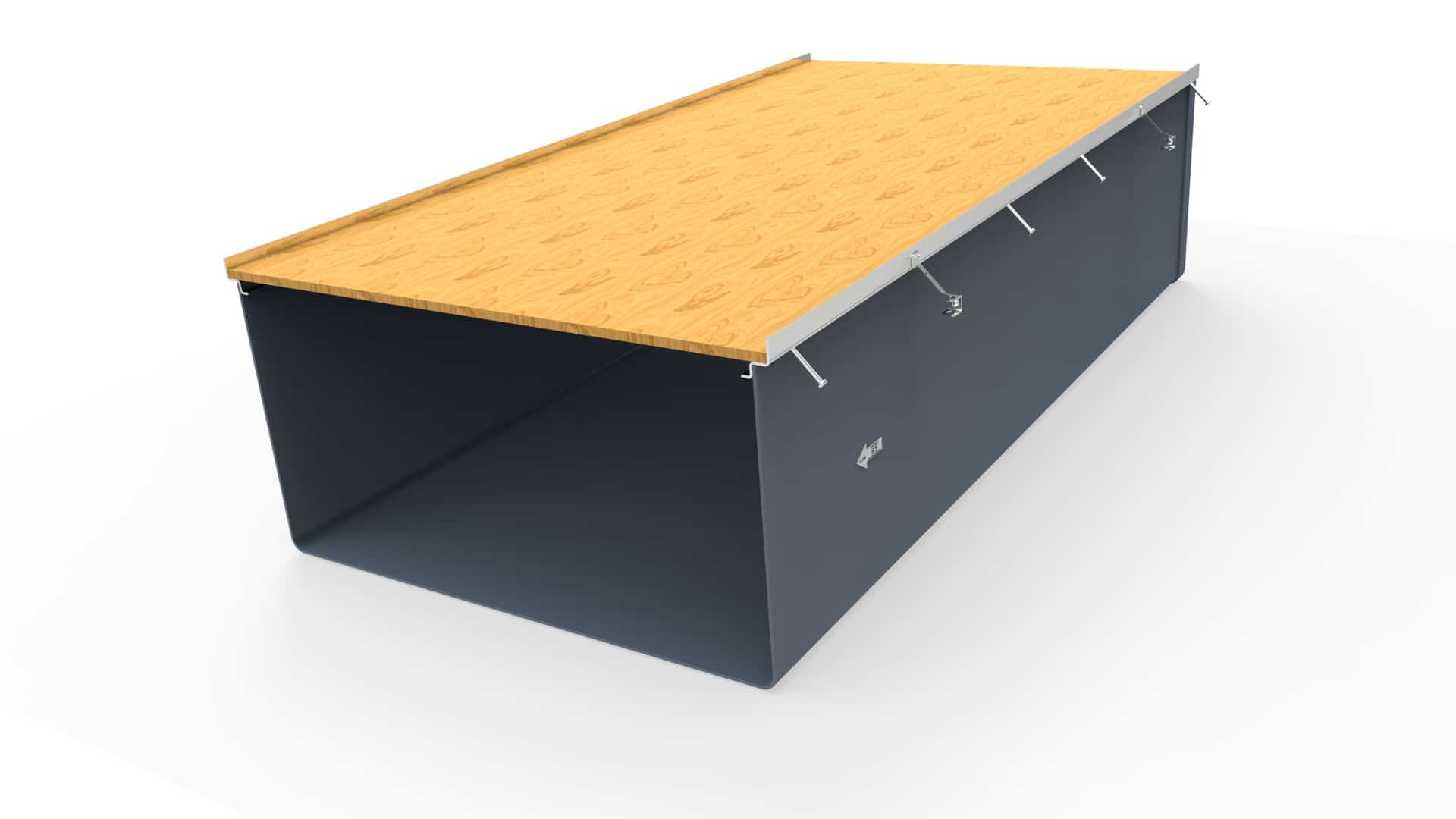 """48"""" wide Prefabricated Trench Drain system"""