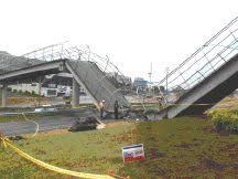 Plastic trench drain is like a bridge failure