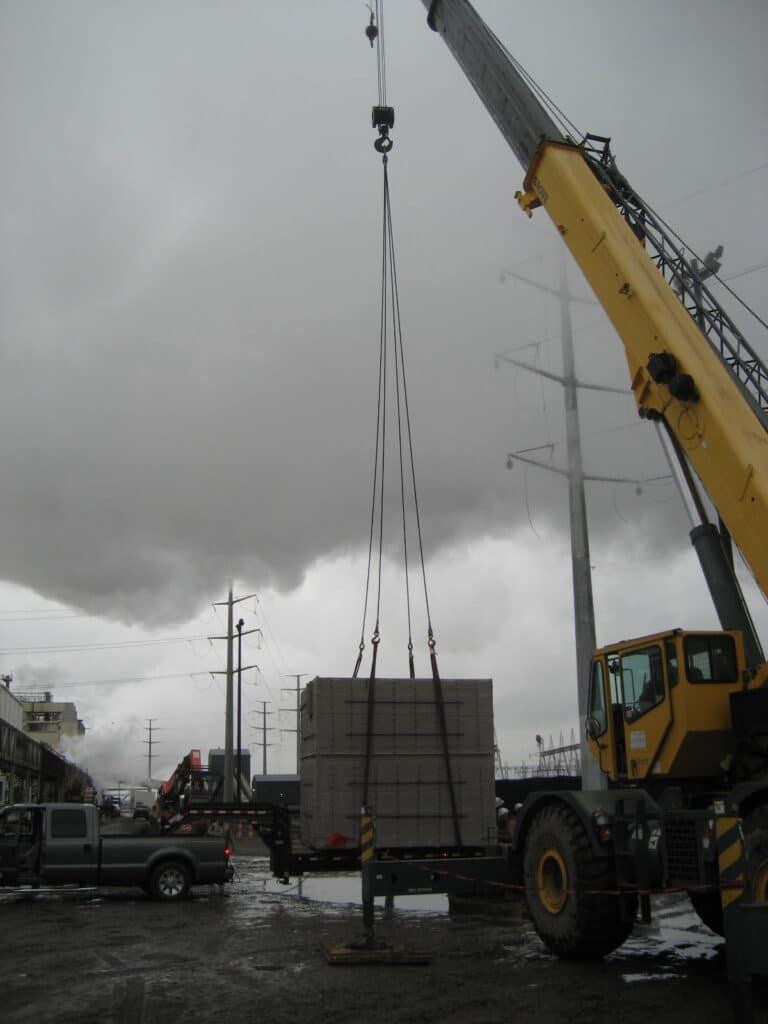 Large prefabricated catch basins