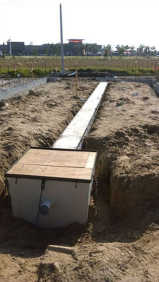Car dealership trench drain