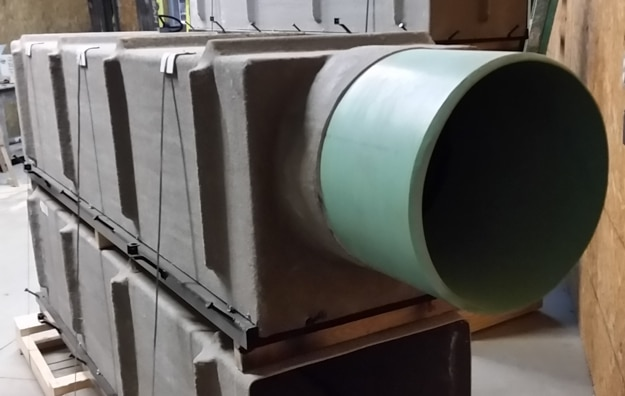 Large SDR35 trench drain outlet pipe