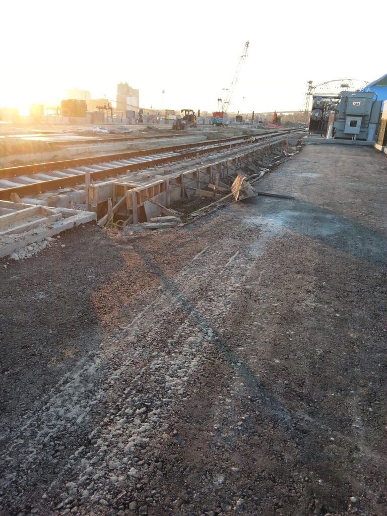 Rail Car loading trench drain