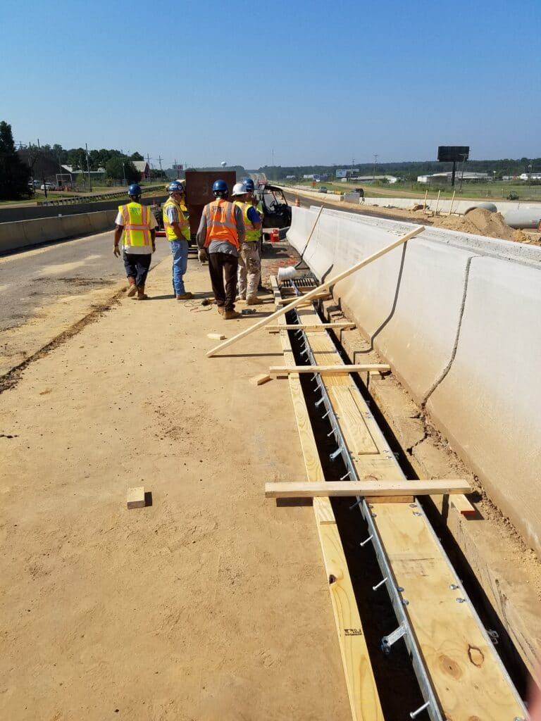 Long trench drain sections