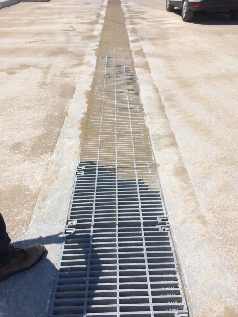 Bulk Unloading area trench drain