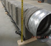 """trench drain outlet with 18"""" CMP pipe"""