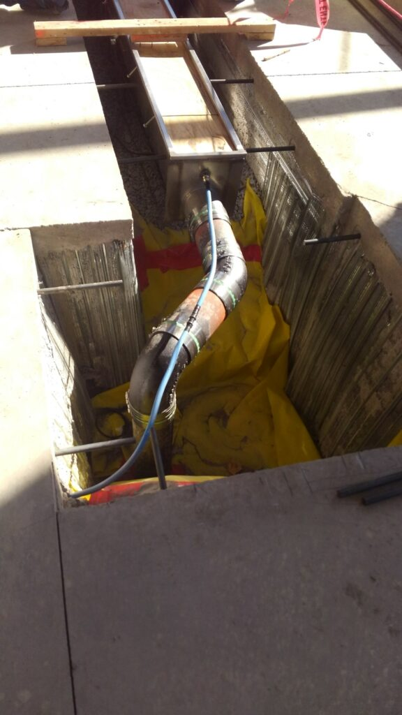 Stainless steel trench drain outlets