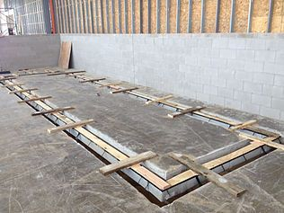 Industrial equipment pad trench drain system