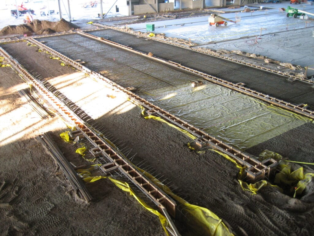 Aircraft manufacturer utility trench