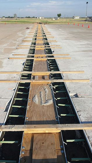 """24"""" wide aircraft apron trench drain"""