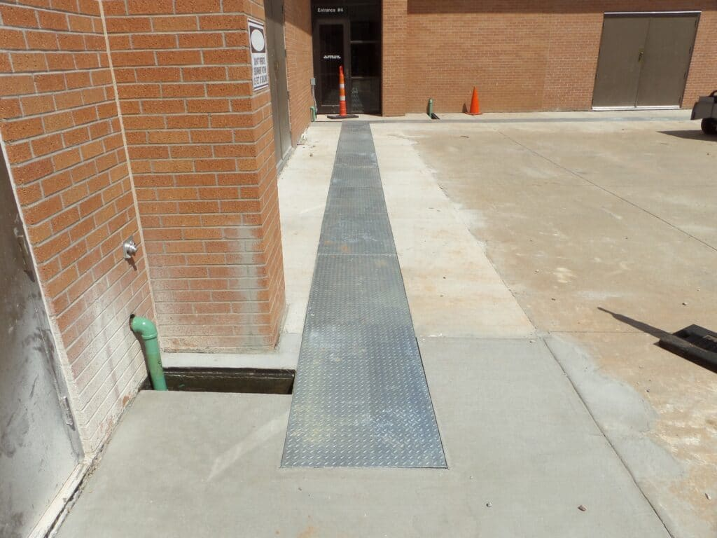 fuel line utility trench