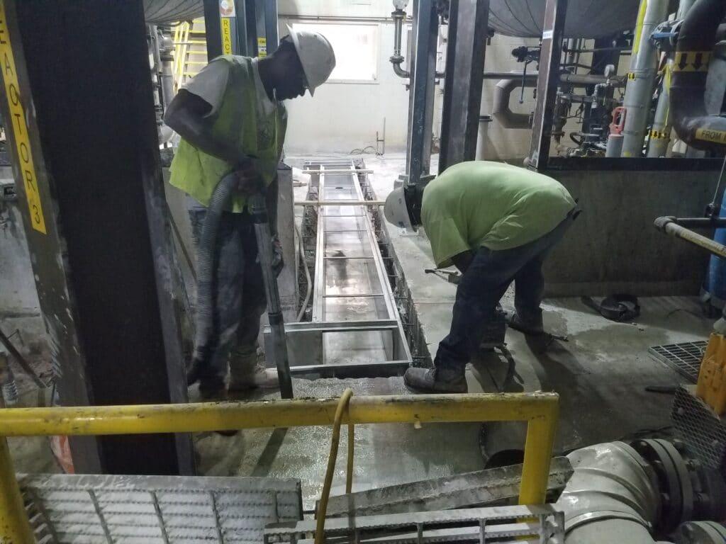 Bio-diesel Plant trench drain installation