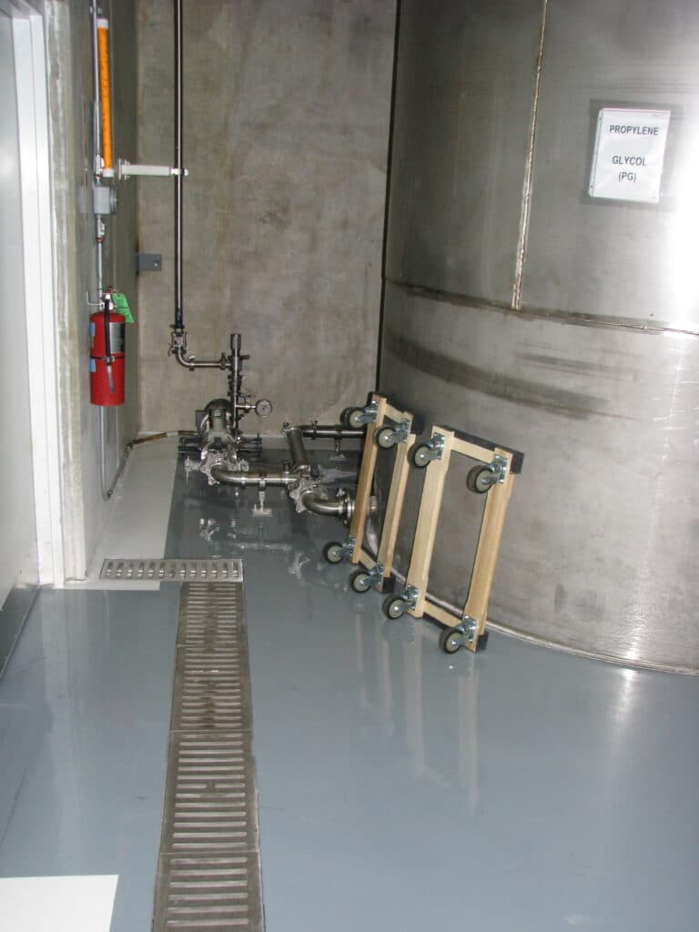 trench drain in a chemical plant