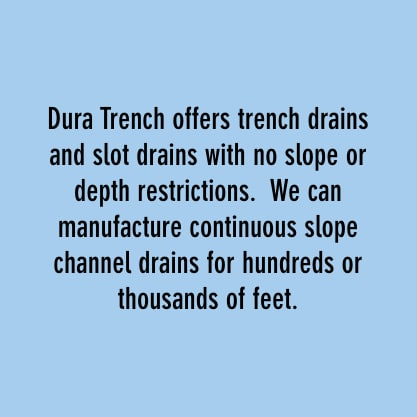 Dura Trench trench drains and slot drains